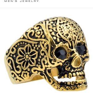 Blackjack Jewelry Mens Stainless Skull Ring